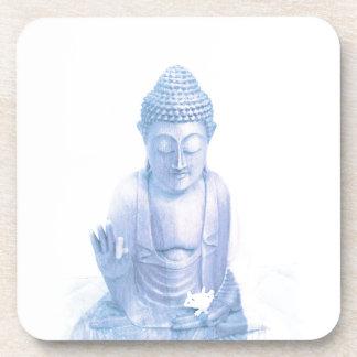 ratón blanco azul y minúsculo de Buda Posavasos De Bebidas