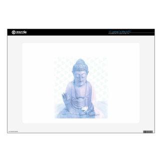 ratón blanco azul y minúsculo de Buda Skins Para 38,1cm Portátiles