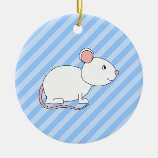 Ratón blanco adorno para reyes