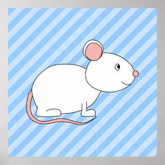 Ratón blanco impresiones