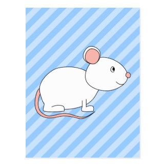 Ratón blanco postales