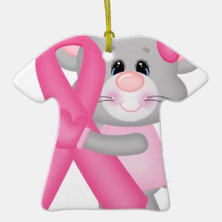 Ratón-cáncer-surviver de Think Pink - cinta Adorno Navideño De Cerámica En Forma De Playera