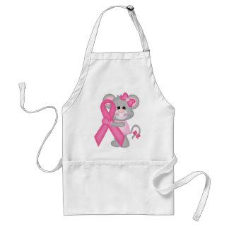 Ratón-cáncer-surviver de Think Pink - cinta Delantal