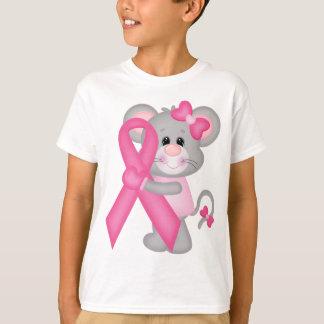 Ratón-cáncer-surviver de Think Pink - cinta Playera
