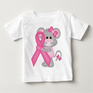 Ratón-cáncer-surviver de Think Pink - cinta Playera De Bebé