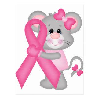 Ratón-cáncer-surviver de Think Pink - cinta Postales
