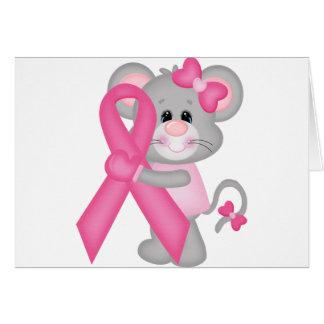 Ratón-cáncer-surviver de Think Pink - cinta Tarjetas
