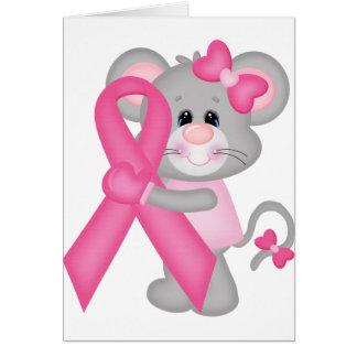 Ratón-cáncer-surviver de Think Pink - cinta Felicitaciones