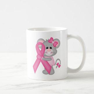 Ratón-cáncer-surviver de Think Pink - cinta Taza De Café
