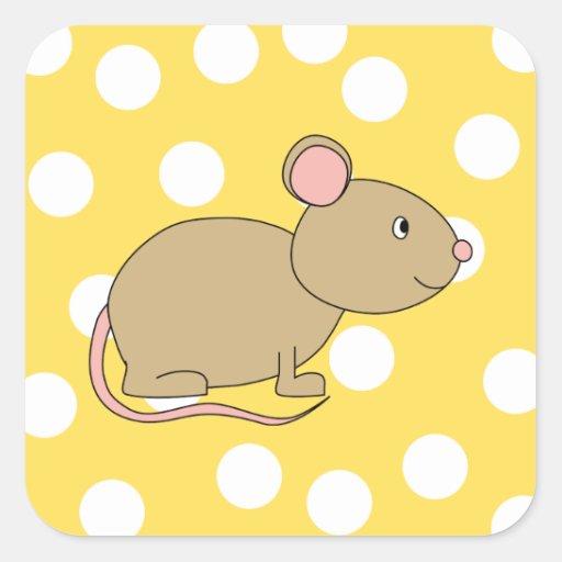 Ratón Colcomanias Cuadradass