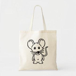 Ratón cómico bolsa tela barata