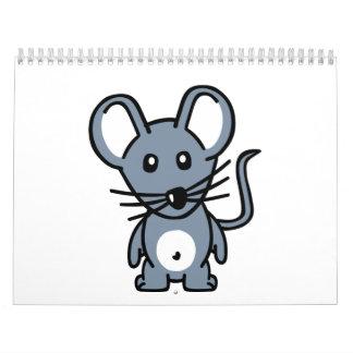 Ratón cómico calendarios de pared