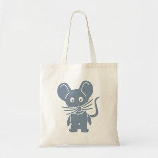 Ratón cómico gris bolsa tela barata