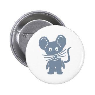 Ratón cómico gris pin redondo 5 cm