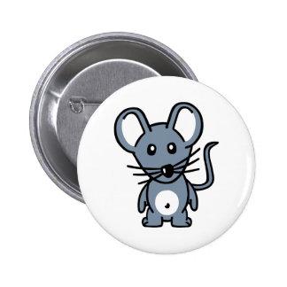 Ratón cómico pin redondo 5 cm