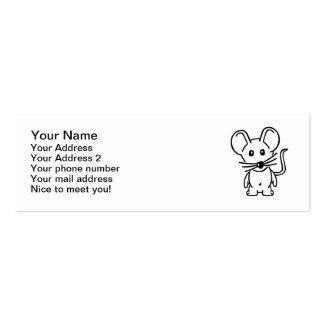 Ratón cómico tarjetas de visita mini