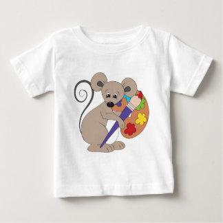 ratón con el pintura-artista camisas