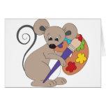 ratón con el pintura-artista tarjeta