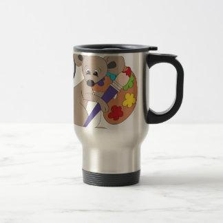 ratón con el pintura-artista taza de viaje