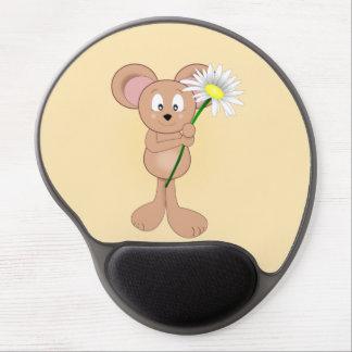 Ratón con la flor alfombrilla para ratón de gel