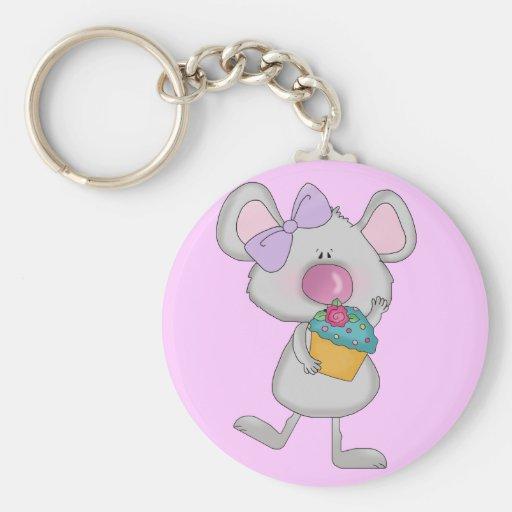 Ratón con las camisetas y los regalos de la magdal llavero personalizado