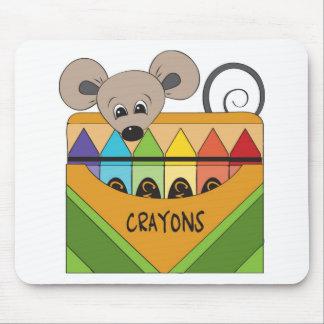 ratón con los creyones tapetes de raton