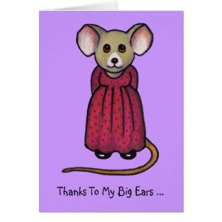 Ratón con los oídos grandes: ¡Oyó sus noticias, Co Tarjeta Pequeña
