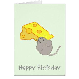 Ratón con queso tarjeta de felicitación