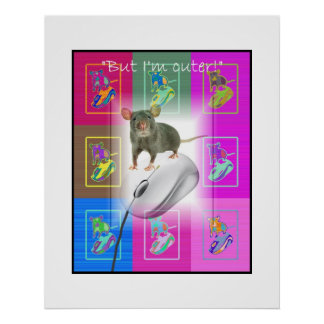 Ratón contra ratón poster
