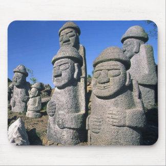 Ratón de abuelo de piedra de Harubang de las estat Tapetes De Ratón