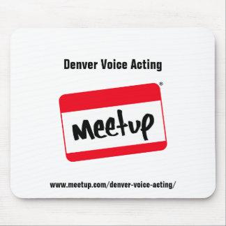 Ratón de actuación P de Meetup de la voz de Denver Tapete De Ratón