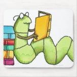 Ratón de biblioteca alfombrillas de raton