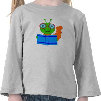 Ratón de biblioteca con vidrios y un libro camisetas
