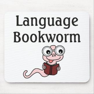 Ratón de biblioteca de la lengua tapetes de raton