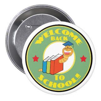 Ratón de biblioteca de nuevo a escuela pins