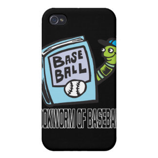 Ratón de biblioteca del béisbol iPhone 4 carcasas