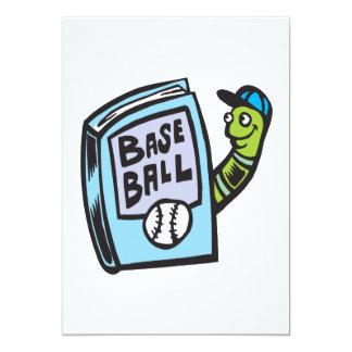 Ratón de biblioteca del béisbol invitación 12,7 x 17,8 cm