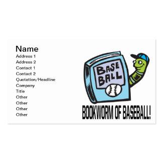 Ratón de biblioteca del béisbol tarjeta de negocio