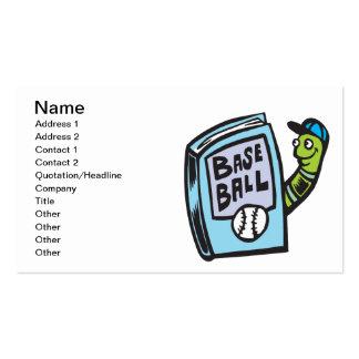 Ratón de biblioteca del béisbol plantilla de tarjeta de negocio