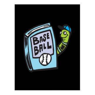 Ratón de biblioteca del béisbol postal