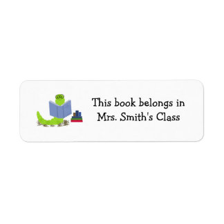 Ratón de biblioteca etiqueta de remitente
