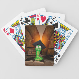 Ratón de biblioteca lindo baraja cartas de poker
