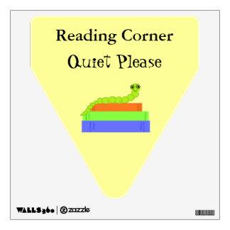 Ratón de biblioteca lindo - muestra de la lectura vinilo decorativo