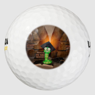 Ratón de biblioteca lindo pack de pelotas de golf