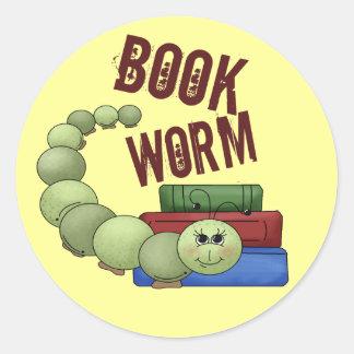 Ratón de biblioteca pegatina redonda
