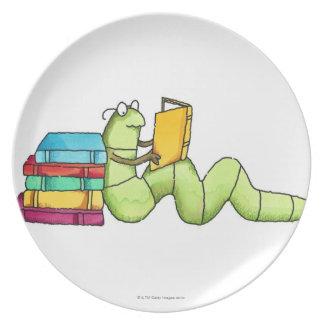 Ratón de biblioteca platos de comidas