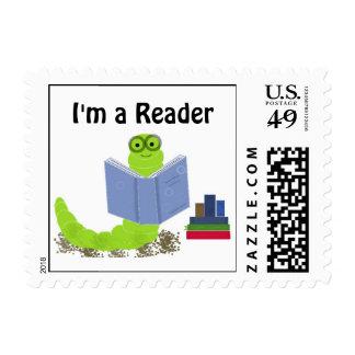 Ratón de biblioteca - soy un lector estampillas