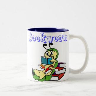 Ratón de biblioteca taza de dos tonos