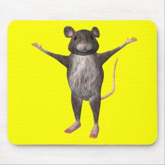 Ratón de casa amistoso tapete de ratones