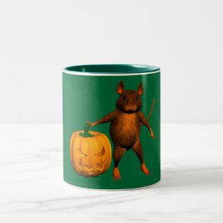 Ratón de casa taza de café